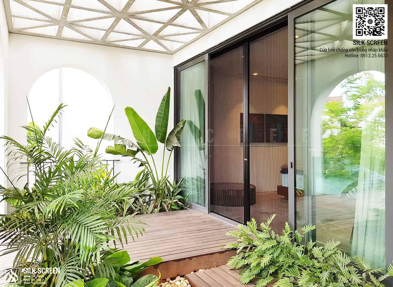 Cửa lưới chống muỗi nhập khẩu Nhật Bản - Biệt thự Anh Đào