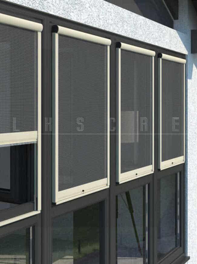 cửa lưới cuộn dọc revolux dành cho cửa sổ
