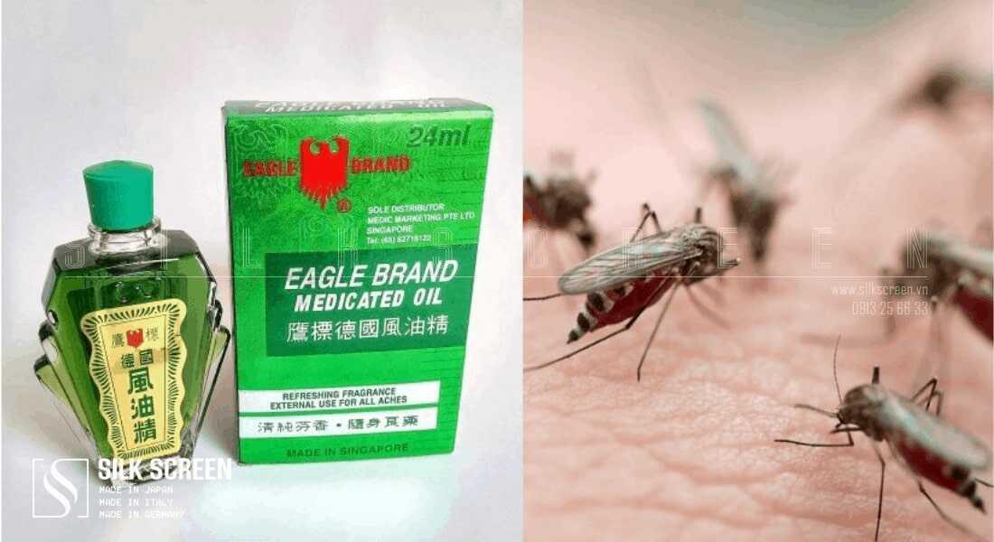 đuổi muỗi bằng dầu gió